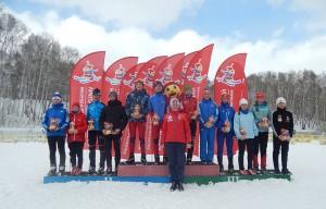 Нанраждение. Крайние справа Кошелев, Завацкая, Чабулова и Апанасенко