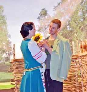 свидание Ивана Бровкина со своей невестой.- ГДК